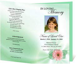 View: Blossom Funeral Program