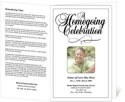View: Homegoing Funeral Program