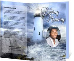 View: Lighthouse Funeral Program