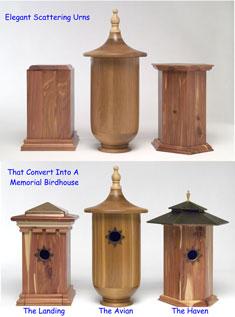 Birdhouse Memorial Urn Details