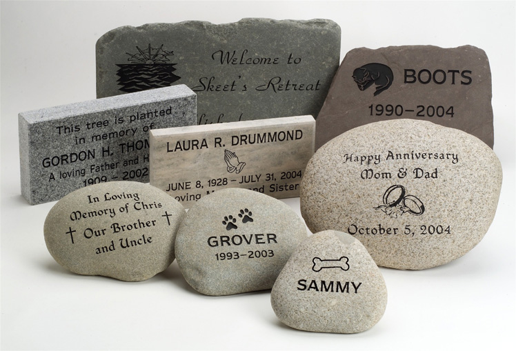 Natural Stone Markers and Garden Memorials