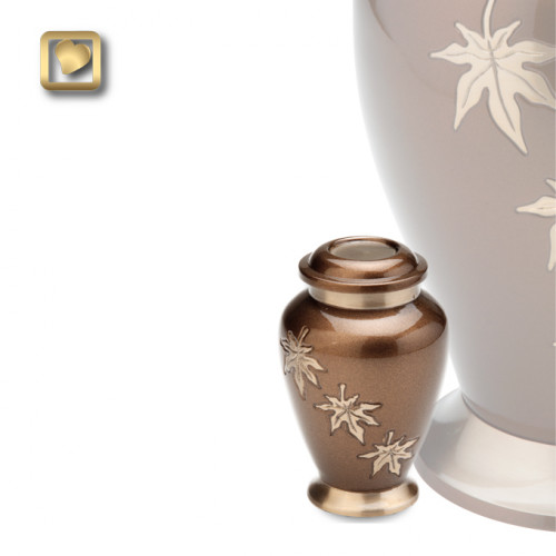 Keepsake Falling Leaves Cremation Urn for Ashes