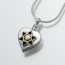 Star of David Heart (3 Metal Options)