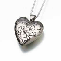 Bronze Floral Heart