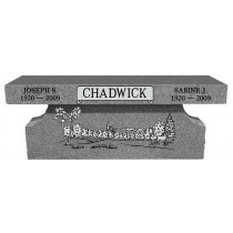 Chadwick Bench Monument (2 Sizes and 8 Colors)