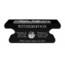 Witherspoon Bench Monument (2 Sizes and 8 Colors)