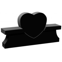 Heart Bench Monument (2 Sizes and 8 Colors)