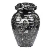 Black Grain Marble Urn (3 Sizes)