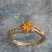 Fashion Ring for Princess Cut