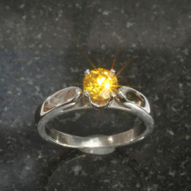 Cathedral Ring for Round Cut
