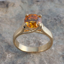 Woven Solitaire Ring