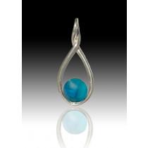Melody Twist - Aquamarine - Sterling Silver