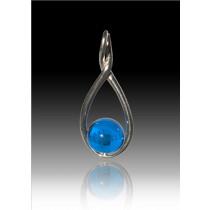 Melody Twist - Blue - Sterling Silver