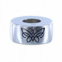 Sterling Silver Butterfly Bead