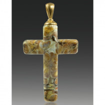Cross Pendant - Calico