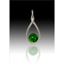 Melody Twist - Green - Sterling Silver