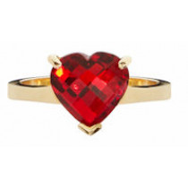 Crystal Cherished Memories Heart Ring (3 Metal Options)