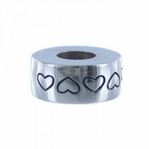 Sterling Silver Baby Hearts Bead