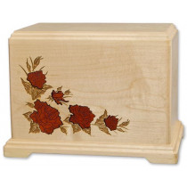 Inlay Urn with Roses