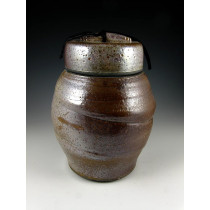 The Large Shino Raku Urn