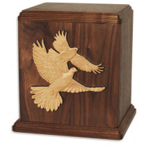 Inlaid Art Wood Urns