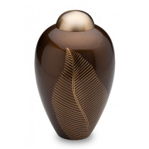 Bronze Leaf Urn