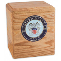 Freedom Cremation Urn for Ashes with Military Medallion