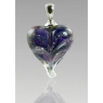 Loving Memory Heart - Purple Iridescent