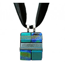 Quilted Dichroic Glass #02