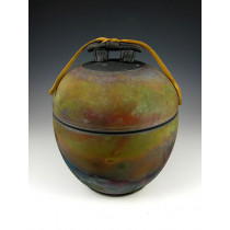 The Quiet Temple Three Raku Urn