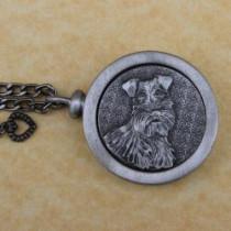Schnauzer Pet Memory Medallion