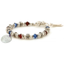 Honoring Our Troops Memory Bracelet