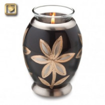 TeaLight Lilies Cremation Urn for Ashes