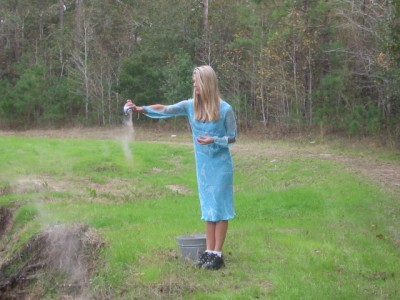 Scattering ashes outdoors on a piece of land with significance to the deceased is often selected by their families.