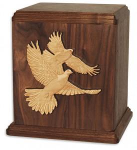 Doves Wood Urn