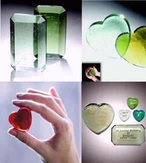 Crystal Cremation Keepsakes