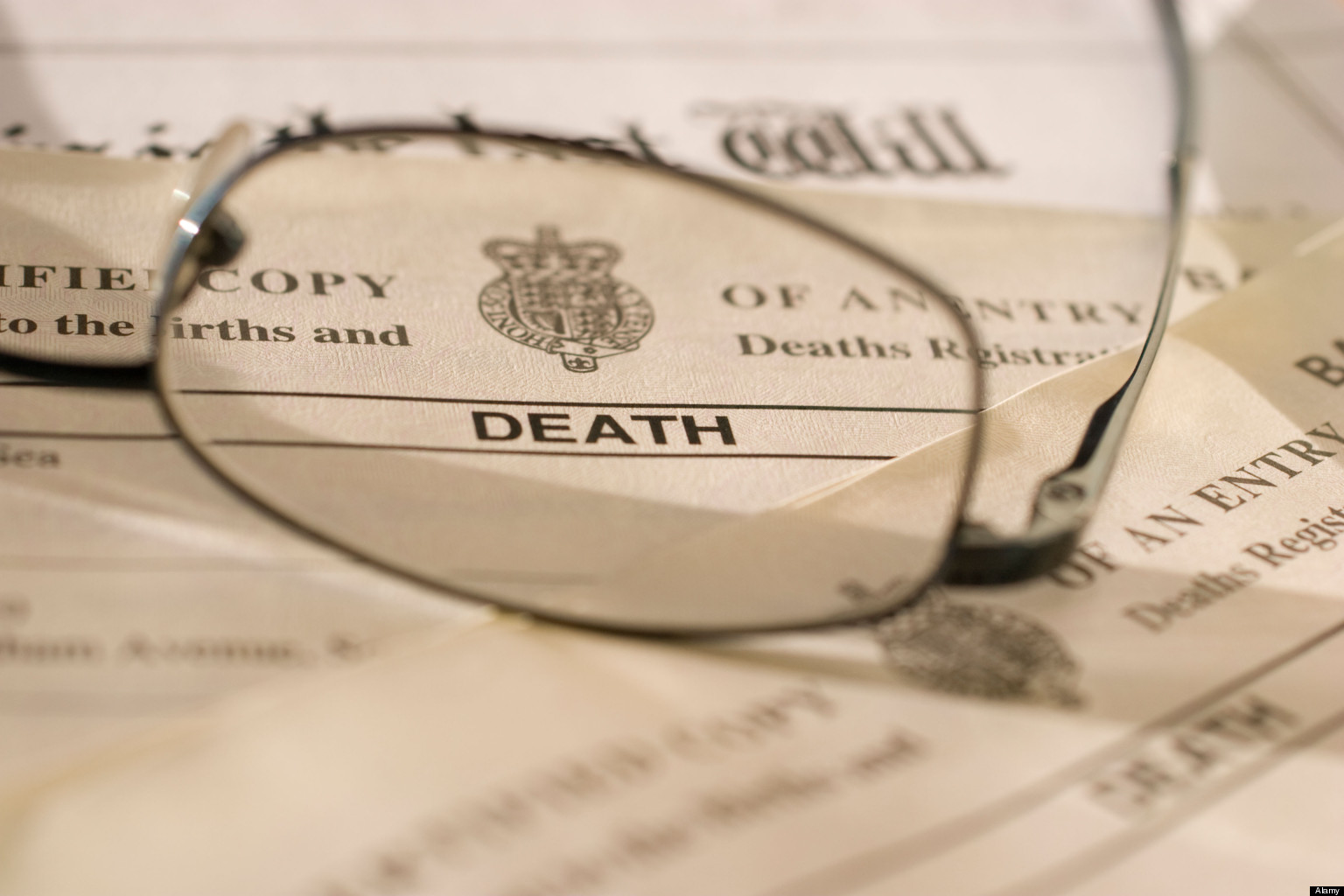 UK Death certificate, certificates, with last will and testament ...