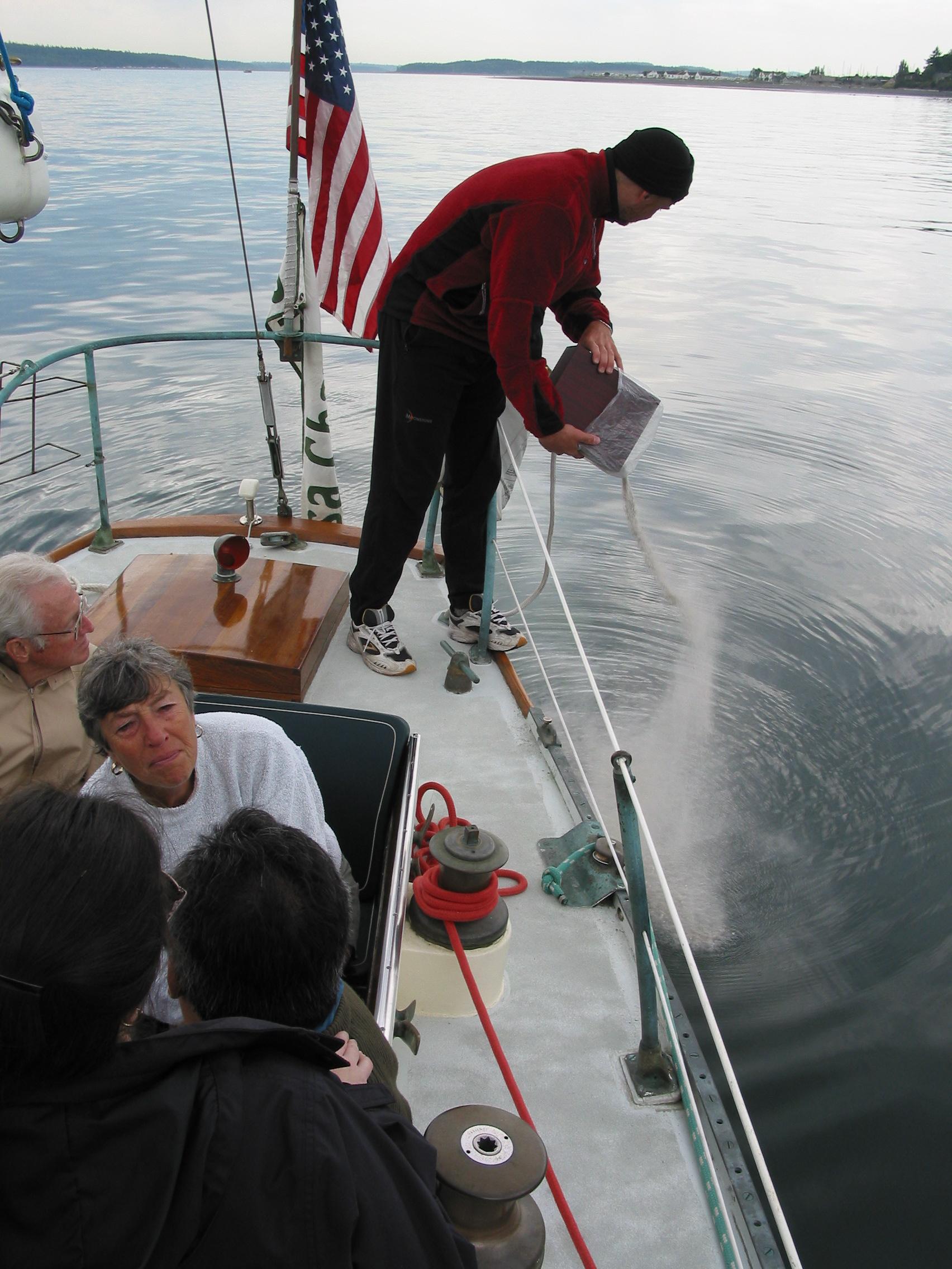 Tering Ashes At Sea
