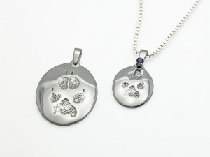 Jewelry made from a paw print