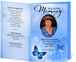 View: Butterfly Funeral Program