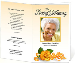 View: Memory Funeral Program