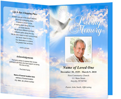 View: Peace Funeral Program