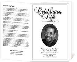 High Quality Classic Funeral Program And Program For A Funeral