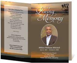 Kenya Funeral Program  Funeral Program Background