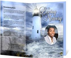 Lighthouse Funeral Program