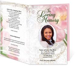 Pearls Funeral Program