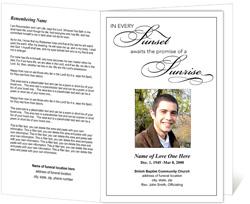 Sunset Funeral Program