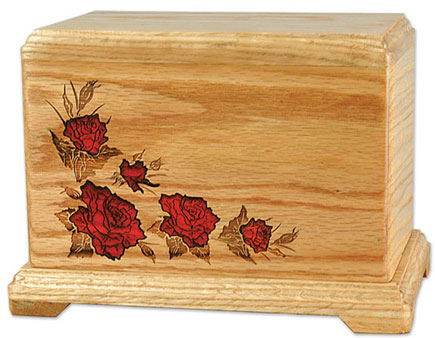 Laser engraved Wood Cremation Urns
