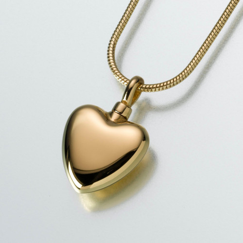 Small Modern Heart in Gold