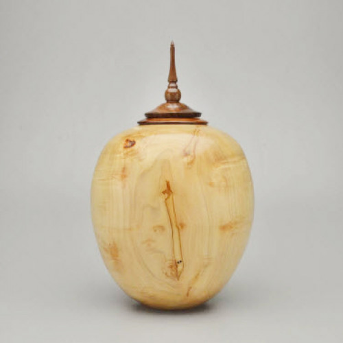 Hand Turned Silver Maple Burl Urn